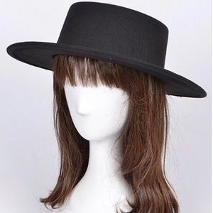 New Black flappy fedora hat